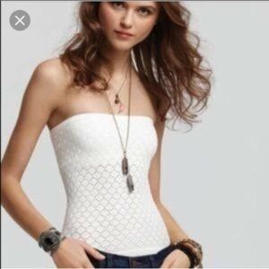 Free people honey comb tank top NWT (black color)